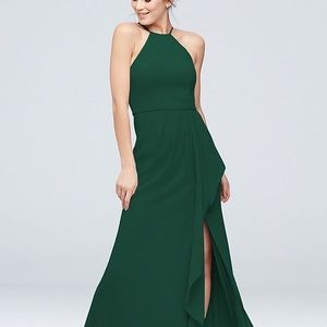 David's Bridal Juniper Green Bride's Maid Dress